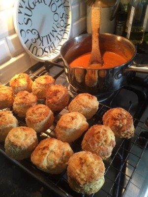 Cheese scones and roasted cherry tomato soup.jpg